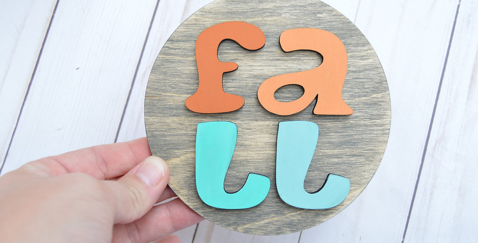 Fall Round Wood Sign