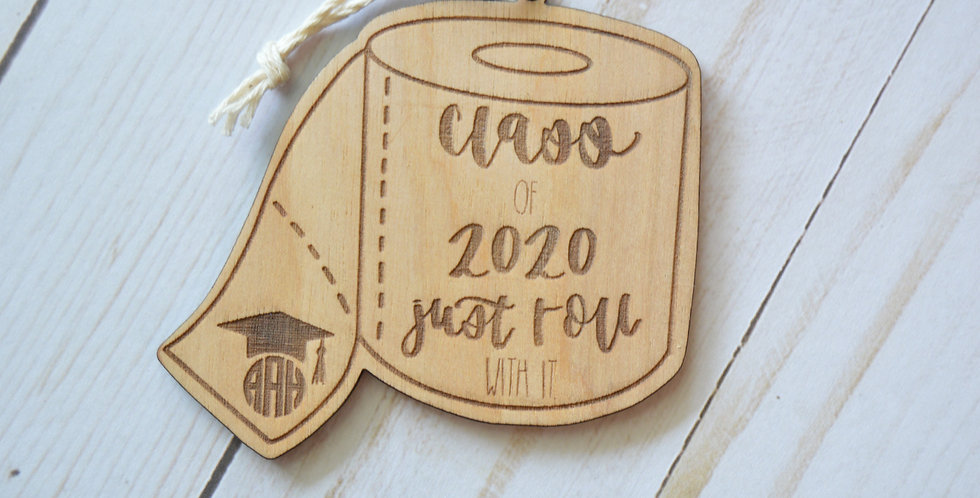 Monogram Class of 2020 Toilet Paper Ornament