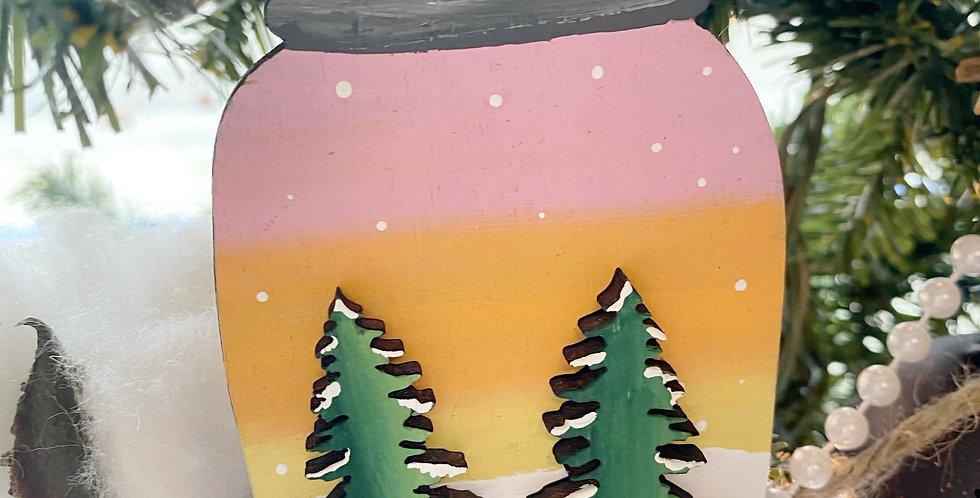 Sunset Tree Mason Jar