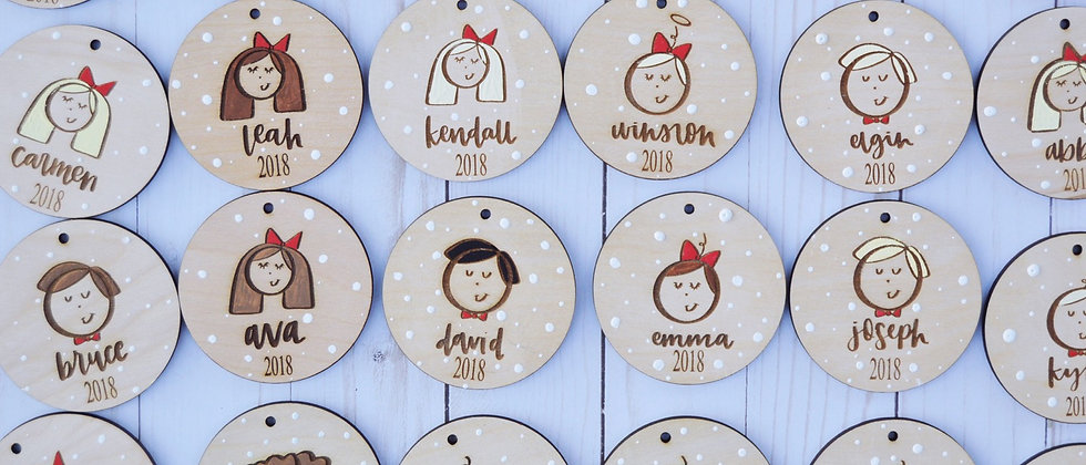 Personalized Doodle Ornament