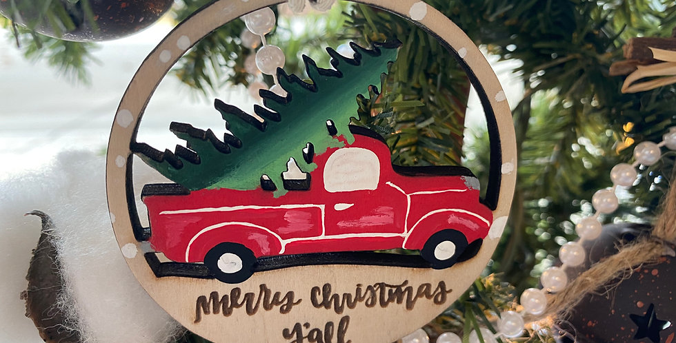 Merry Christmas Y'all Vintage Truck