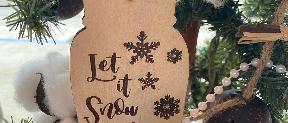 Let it Snow Mason Jar