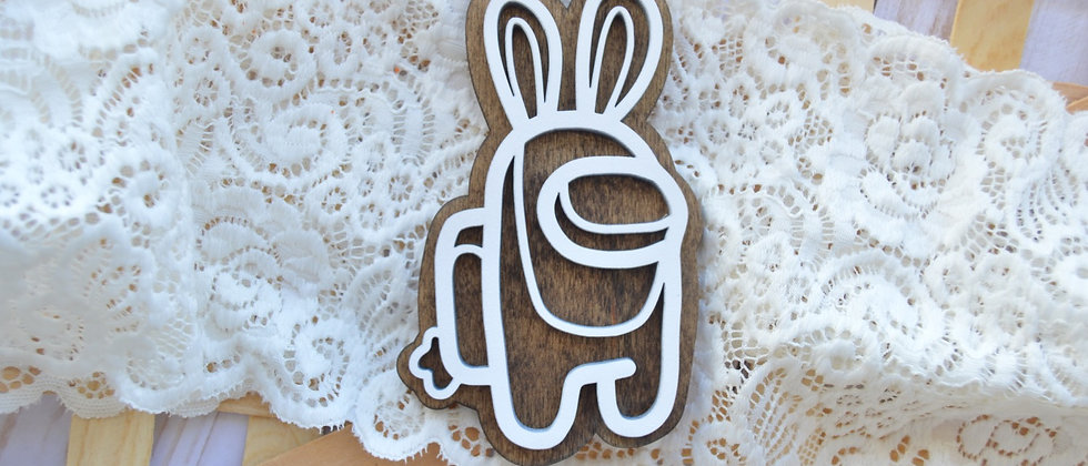 Bunny Sus Basket Tag/Ornament