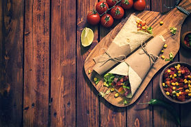 Homemade-Tortilla-Wraps-With-Meat-And-Ve