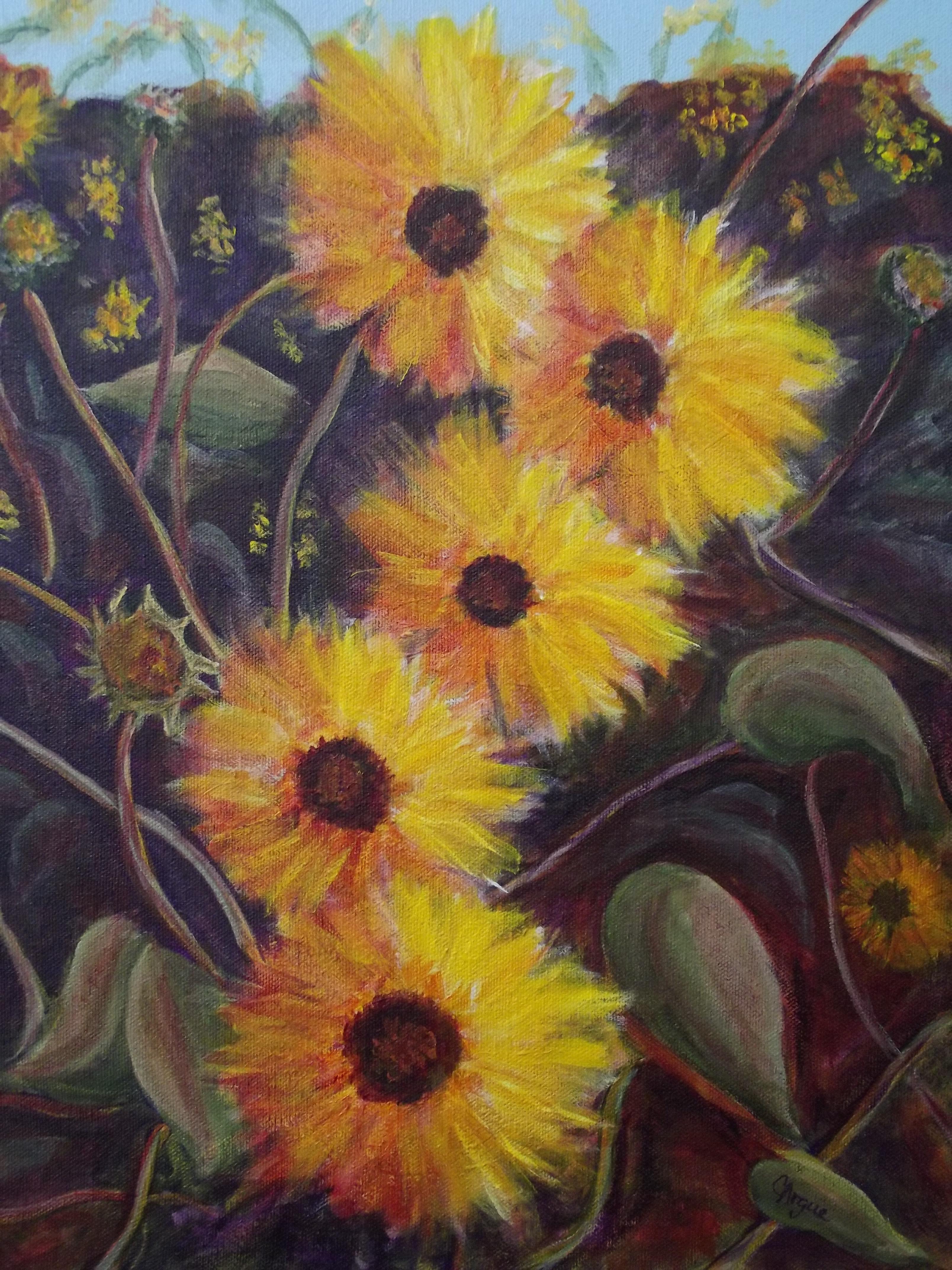 C Argue Sunflowers acrylic 2014