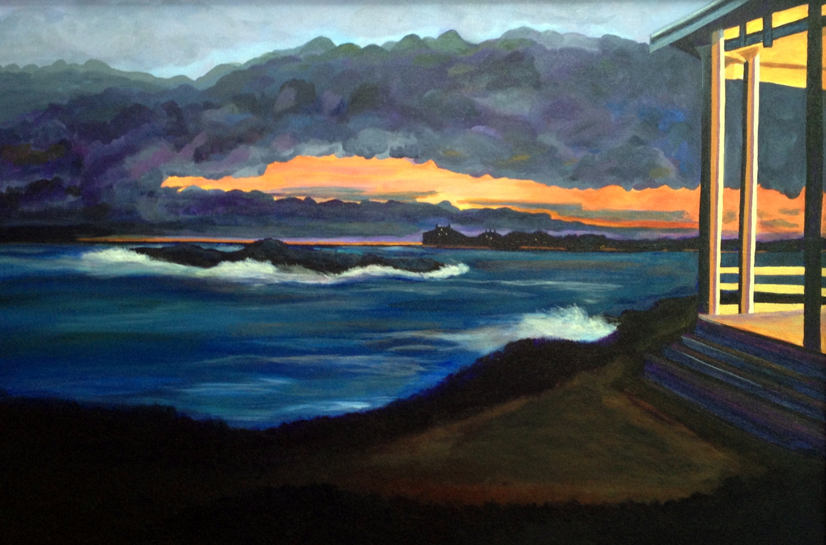 Seaside Evening acrylic 2015