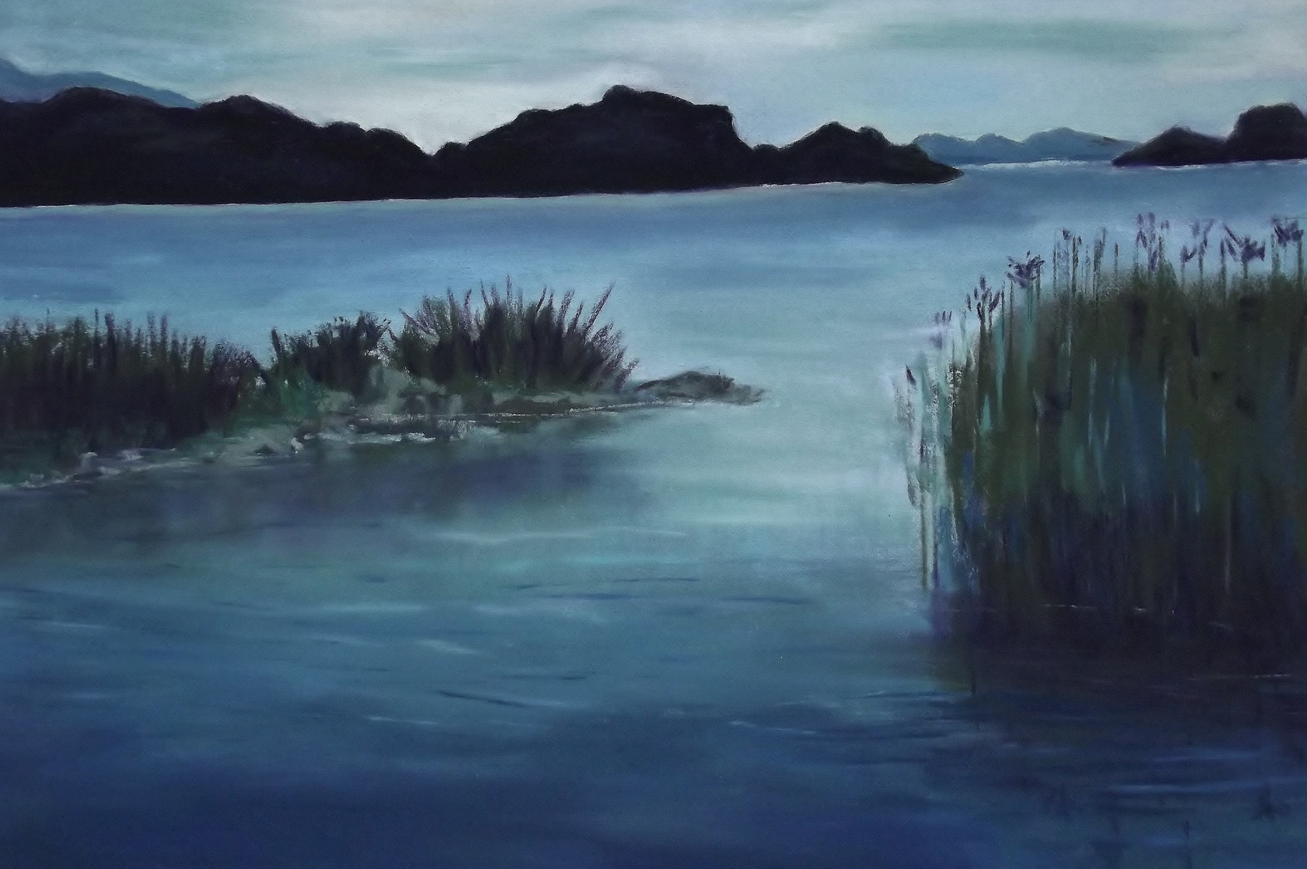 C Argue  Loch Leane County Kerry Ireland 2014 pastel