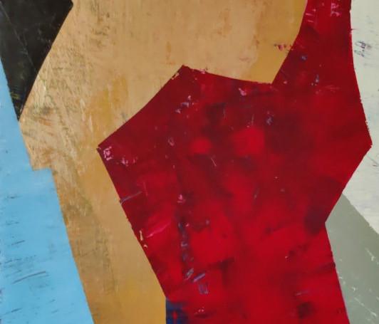 Ruby. 40x30. Acrylic. $400. LComfort
