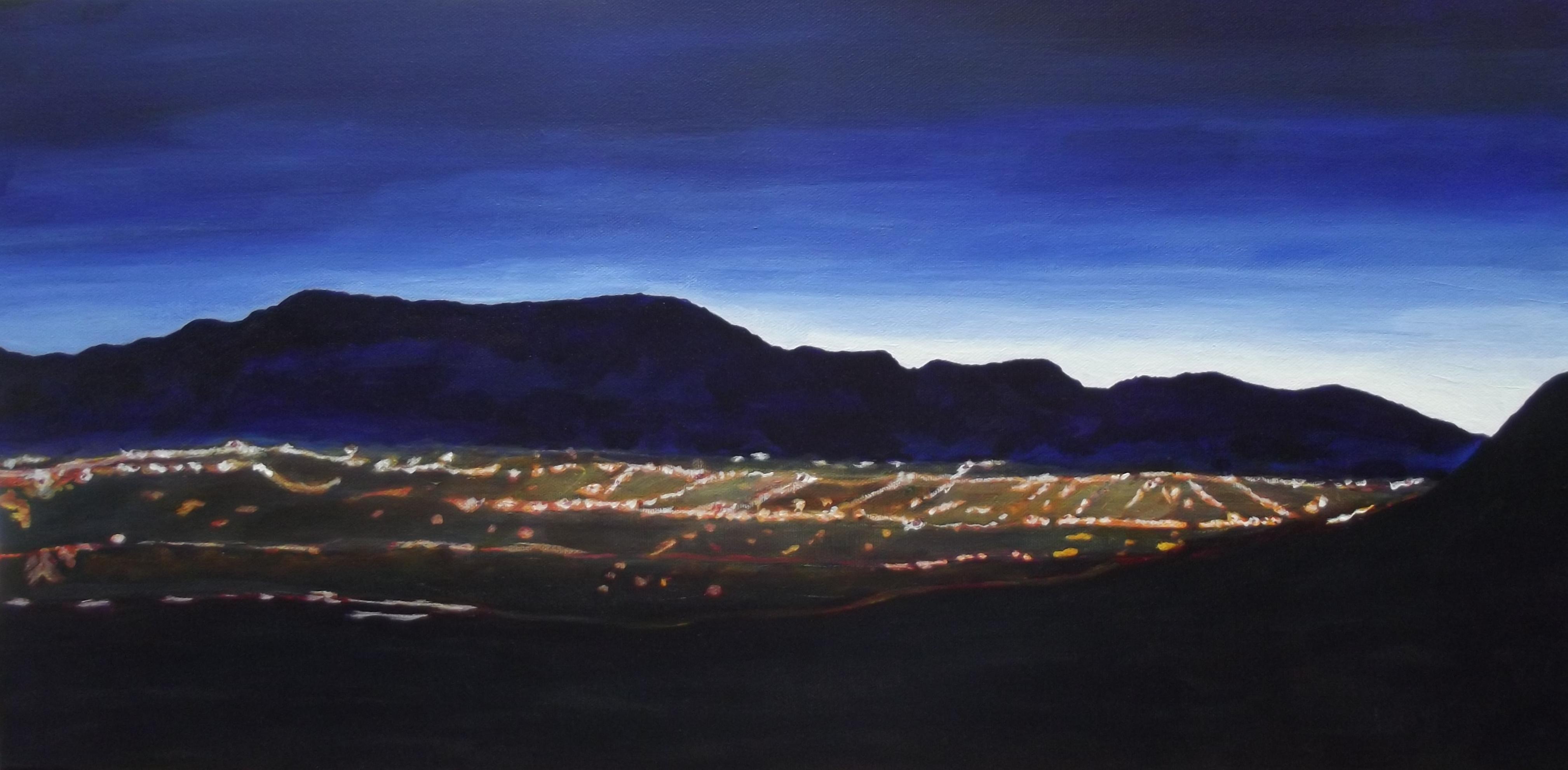 C Argue  Predawn Albuquerque 2014 acrylic