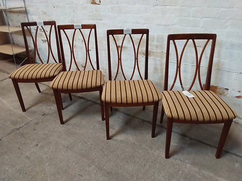 Set of 4 G-Plan dining chairs
