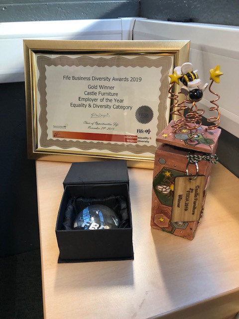 Certificate and Award on table