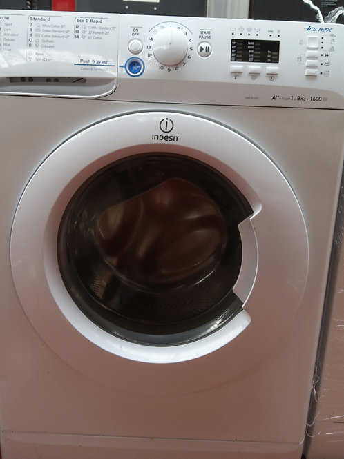 Indesit Washing Machine 8kg 1600rpm (White)