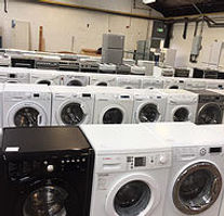 Row of washing machines