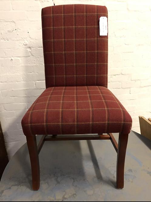 Red Tartan Fabric Chair