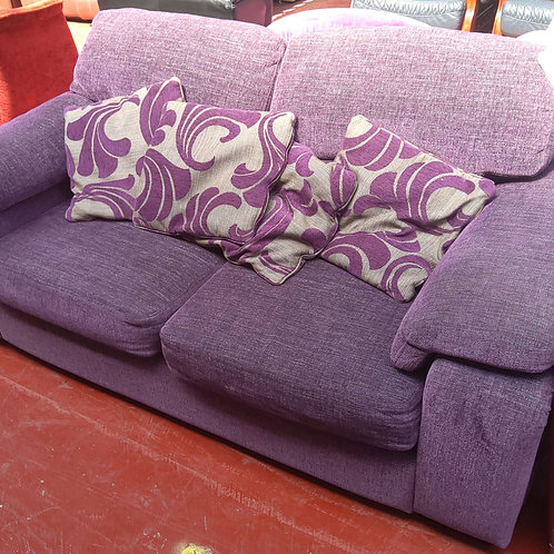 2 seater sofa purple