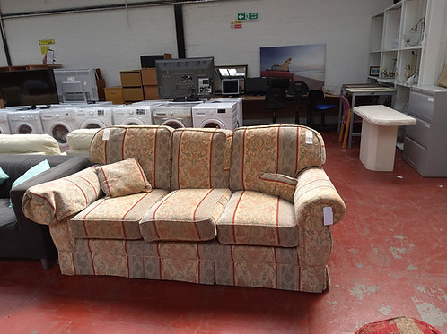 Patterned three seater sofa