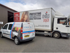 Stella's Voice Truck with Furniture Plus Van