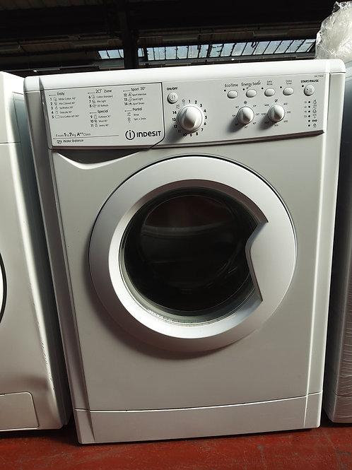 Indesit Washing Machine 7kg 1400rpm (White)