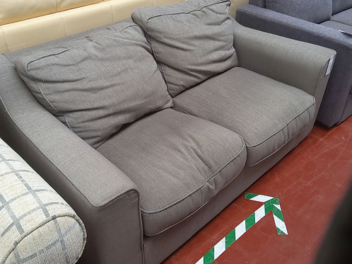 2 seater light stone fabric sofa bed