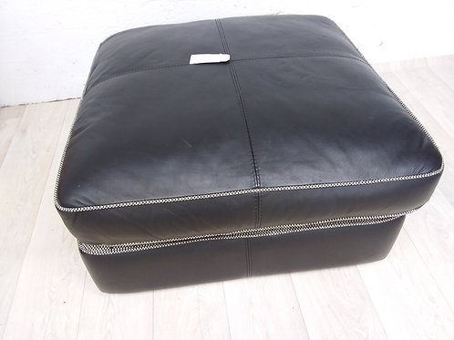 Large Leather Pouffe