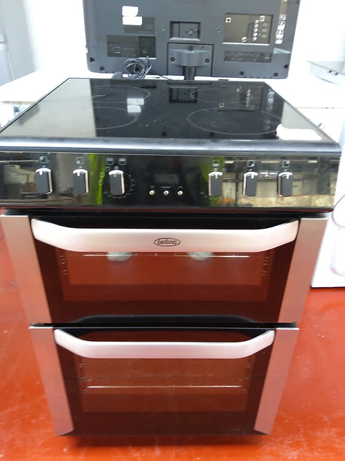 Belling Double Electric Oven 4 hobs 60cm (Black)