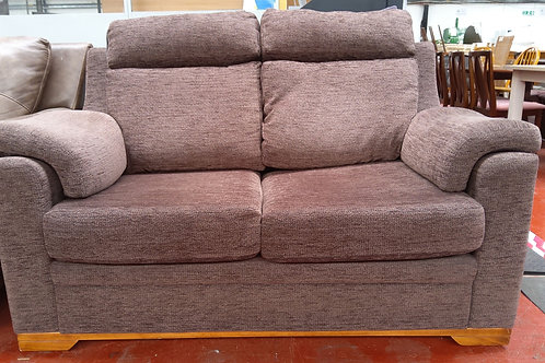 2 seater brown velour sofa bed