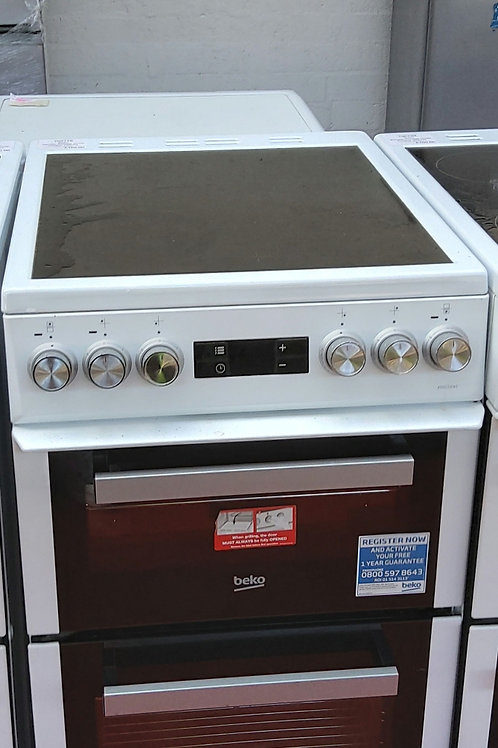 Beko Electric Double Oven  4 hobs 50cm (White)