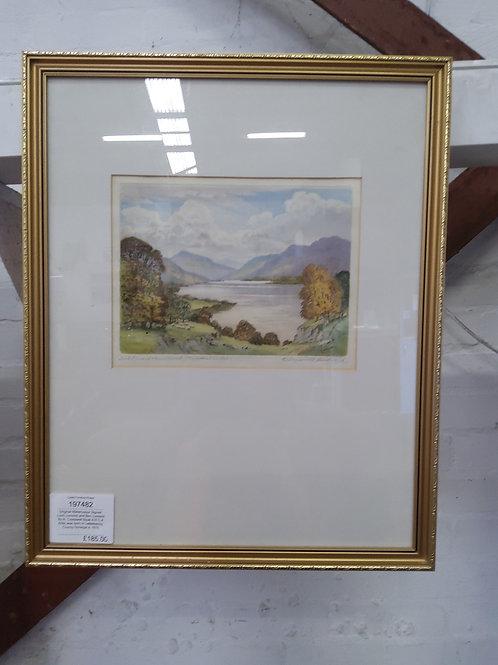 Original Watercolour Signed Loch Lomond and Ben Lomond