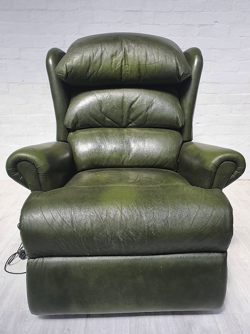 Green Leather Electric Chair
