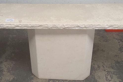 White marble hallway table