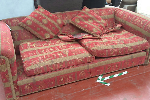 Large 4 seater red sofa