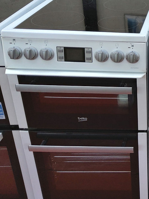Beko Double Electric Oven  4 hobs 50cm (White)