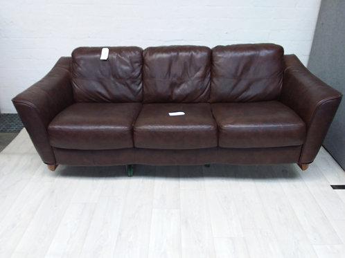 Large 3 Seater Leather Sofa