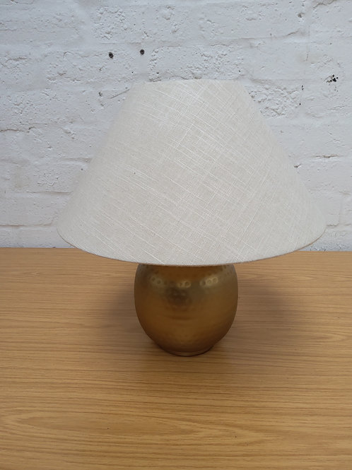 Gold ,amp with cream shade
