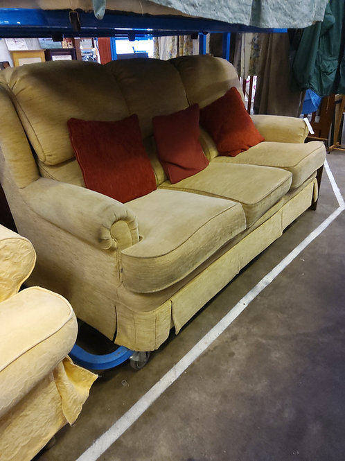 Sofa 3 Seater. Beige Fabric