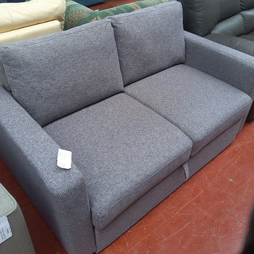 2 seater Pull out sofa bed. Mid grey