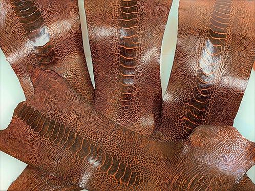 Ostrich Legs Skin Leather, Bordeaux Color GradeB