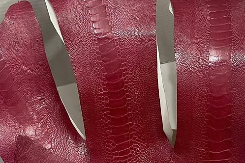 Ostrich Legs Skin Leather Lathyrus Color
