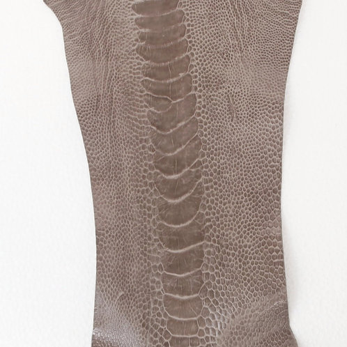 Ostrich Legs Skin Leather Tapestry Grey Color