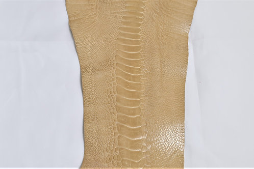 Ostrich Legs Skin Leather, Oryx Color