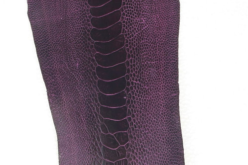 Ostrich Legs Skin Leather African Violet Color