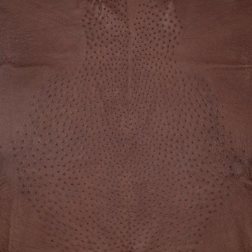 Ostrich Leather Hide, Bordeaux Color