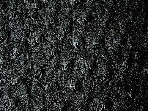 Ostrich Leather Hide, Black Color