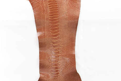Ostrich Legs Skin Leather, Saddle Color