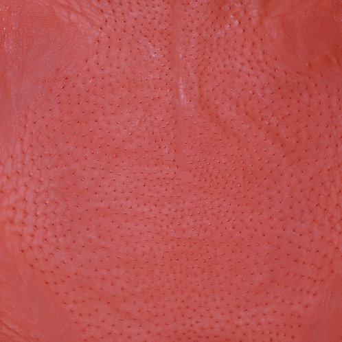 Ostrich Leather Hide, Chili Red Color
