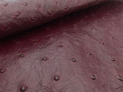 Ostrich Leather Hide, Blackberry Juice Color