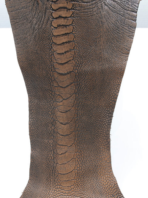 Ostrich Legs Skin Leather, Tabaco Color