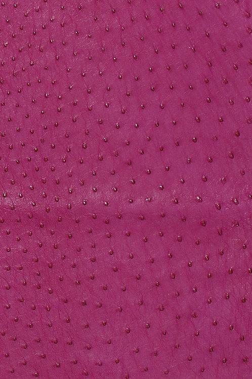 Ostrich Leather Hide, Fuchsia Color