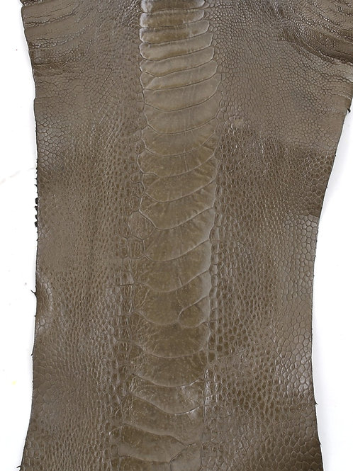Ostrich Legs Skin Leather, Olive Green Color Grade A
