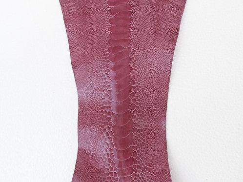 Ostrich Legs Skin Leather Lavender Color